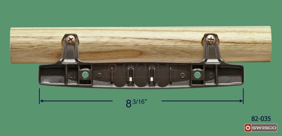 iption Alternate image of 82-035 Patio Door Handle Set showing face plate length.