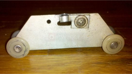 A Customer Submitted Photo Of A Pocket Door Roller.