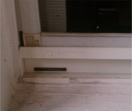 A customer submitted photo of a weep hole.