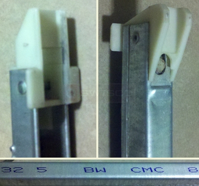 A customer submitted photo of channel balance attachments.