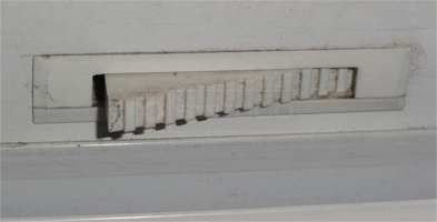 A customer submitted photo of a vent latch.