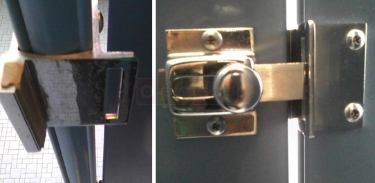 User submitted pictures of lavatory hardware.