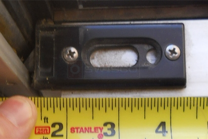 A customer submitted photo of a tilt latch.