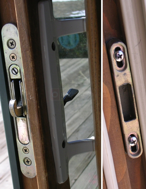 User submitted picture of patio door handle set.