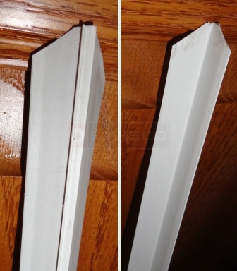 A customer submitted photo of weatherstripping.