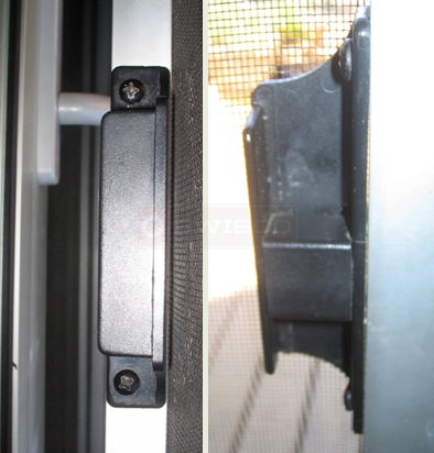 A customer submitted photo of a screen door pull.