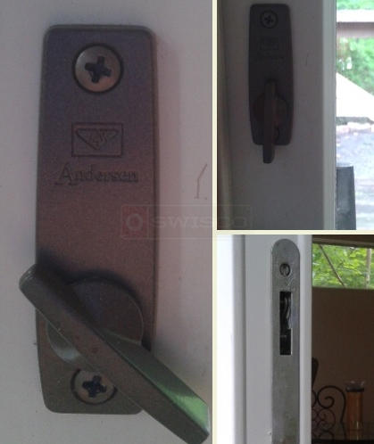 A user submited photo of sliding door handle lock