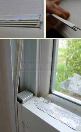 A user submited photo of weatherstripping