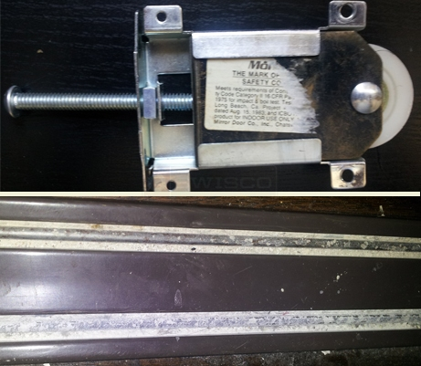 A user submited photo of door track and wheels