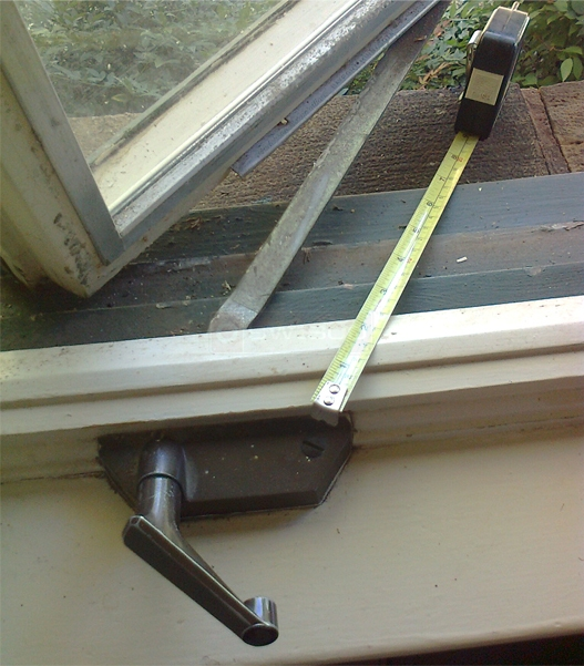 A user submited photo of window crank
