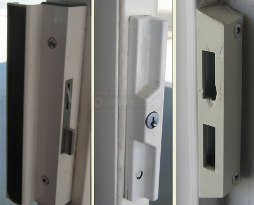A user submited photo of patio door handle