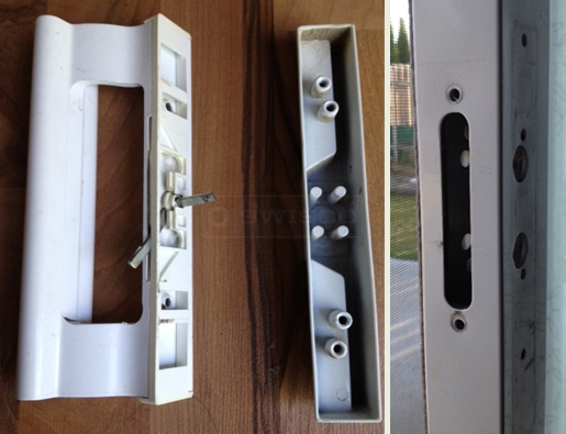 A customer submitted photo of a door handle set.
