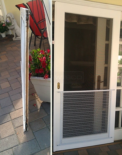 A customer submitted photo of a screen door.