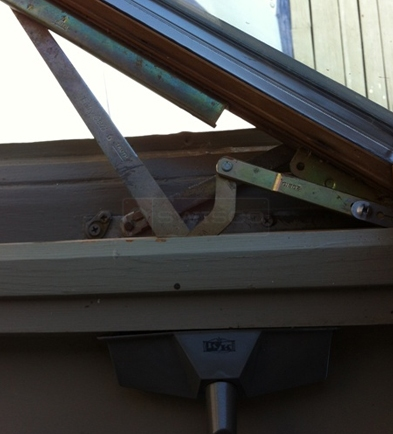 A customer submitted photo of a window operator.