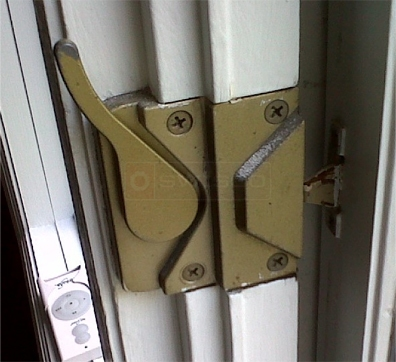 A customer submitted image of a window lock.