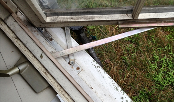 A customer submitted image of a window operator.