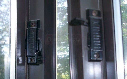 A customer submitted photo of side sliding window locks.