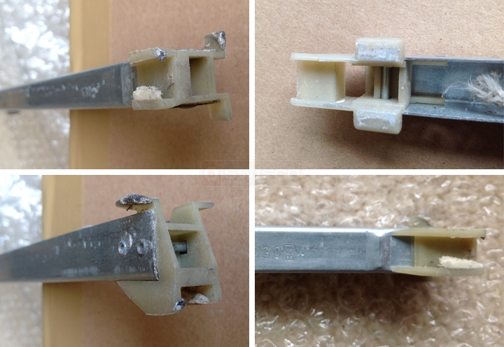 User submitted photos of a window channel balance.