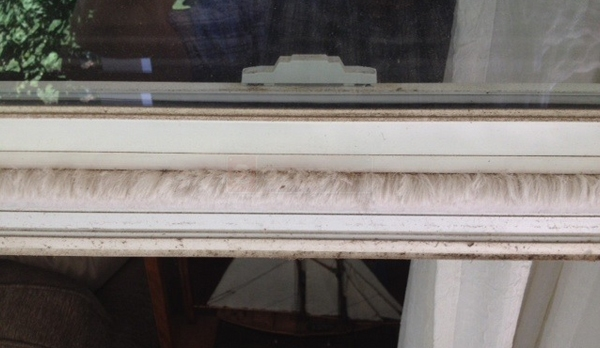 User submitted a photo of window weatherstripping.