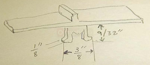User submitted a drawing of a sash lever.