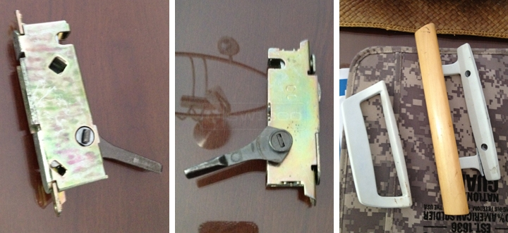User submitted photos of a patio door hardware.