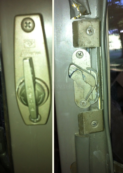 User submitted picture of door lock.