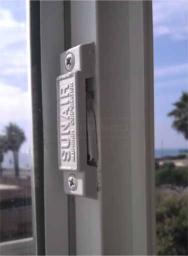 A customer submitted photo of a window lock.