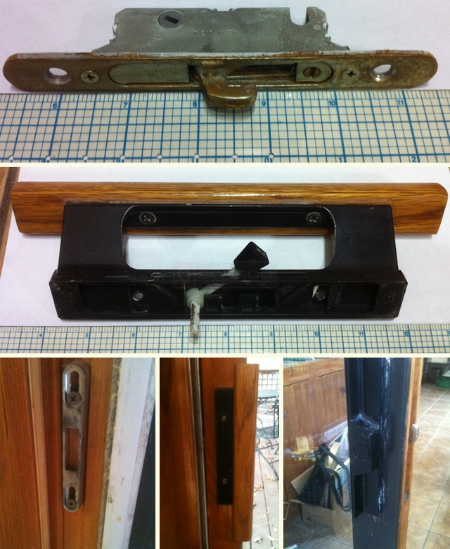 User submitted picture of door and window hardware.