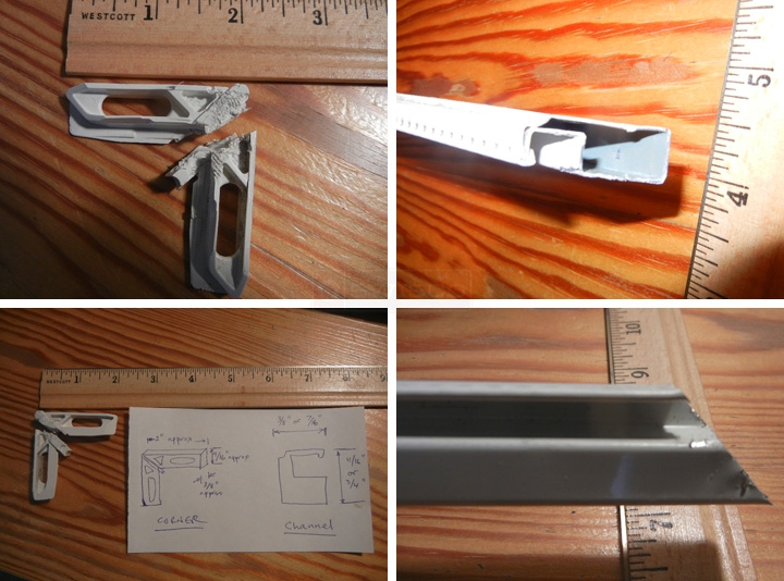User submitted photos of window screen hardware.