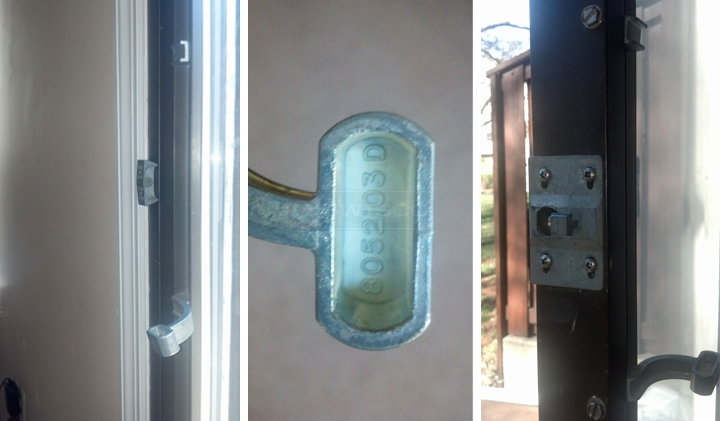 User submitted photos of a sliding door handle.