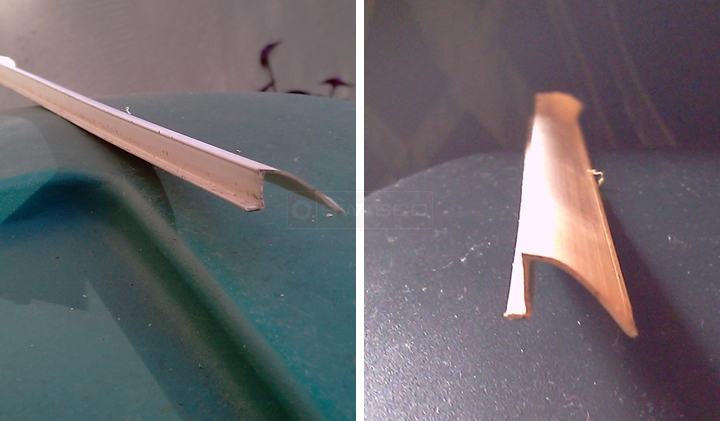 User submitted photos of a window bead.