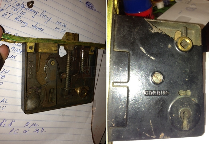 A customer submitted image of their mortise lock.