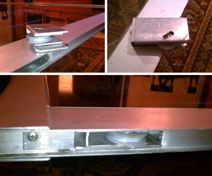 User submitted photos of a sliding door roller.