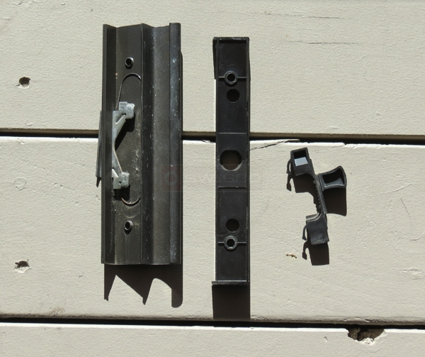 User submitted photos of a sliding glass door handle.