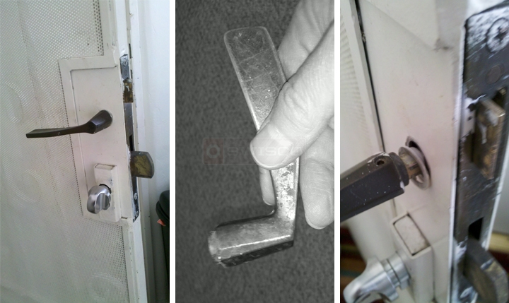User submitted photos of a security door handle.