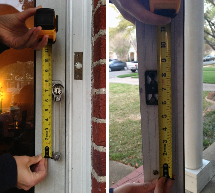 User submitted photos of storm door handles.