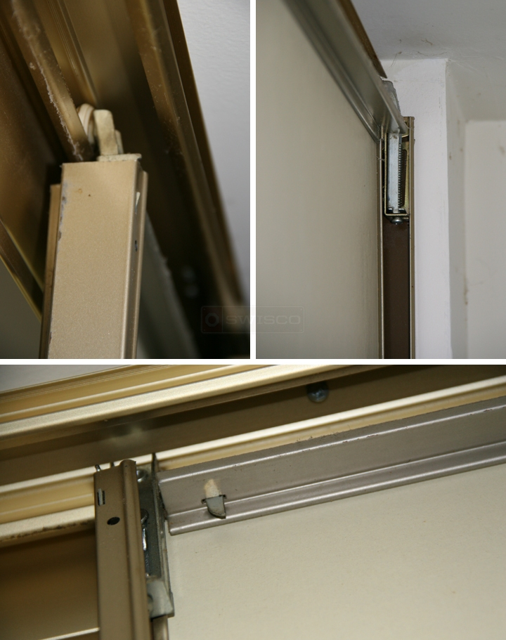 User submitted photos of closet door hardware.