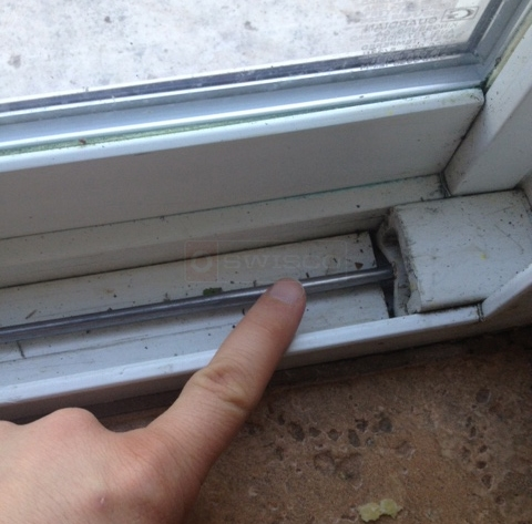 User submitted a photo of a sliding door track.
