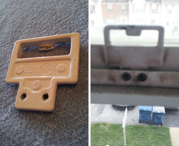 User submitted photos of a window latch.