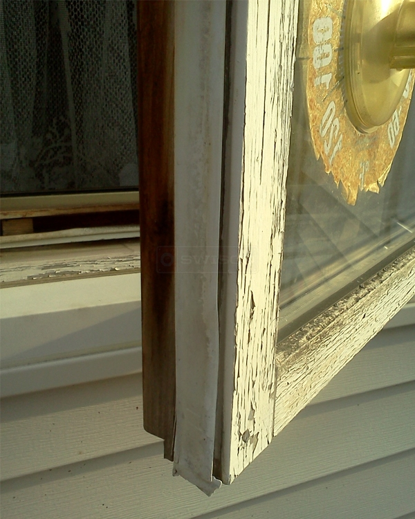 White vinyl weather stripping for wood casements windows for Window weather stripping