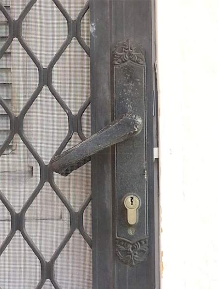 User submitted a photo of a security door handle.