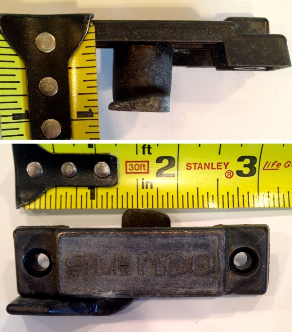 User submitted photos of a window sweep lock.