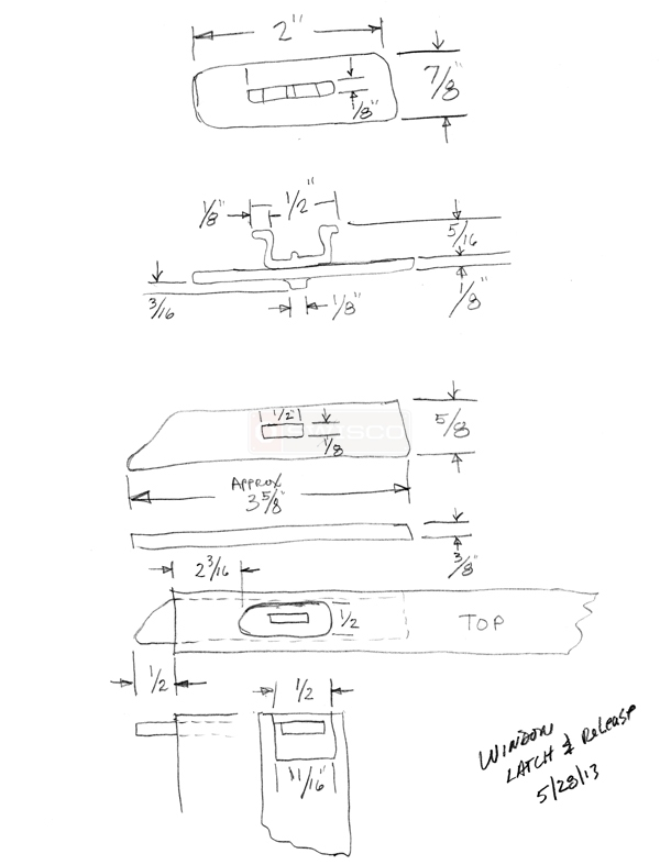 User submitted a diagram of window hardware.