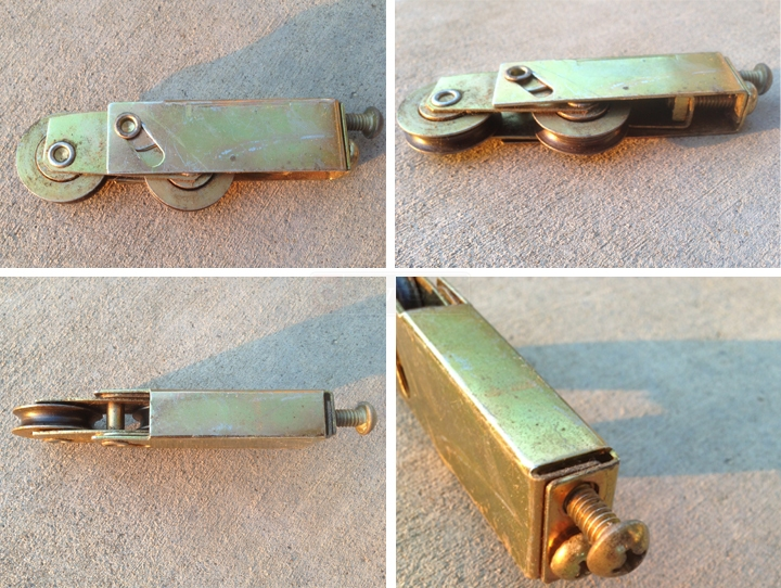 User submitted photos of a patio door rollers.