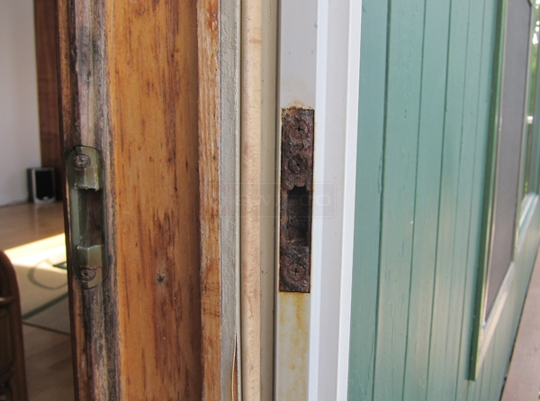 User submitted photos of a patio door keeper.