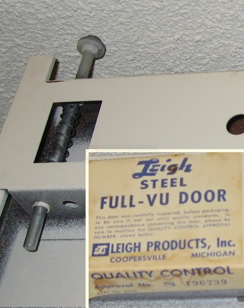 Use submitted picture of closet bifold pins for Leigh Full-Vu steel bi-fold door.