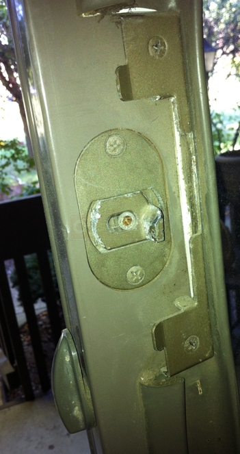 A customer submitted image of their Andersen hardware.