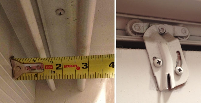 A customer submitted image of their closet door hardware.