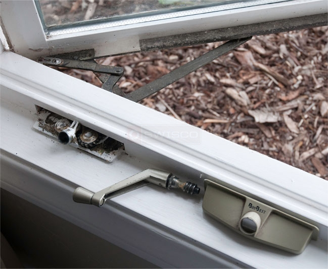 A customer submitted image of their casement window operator.