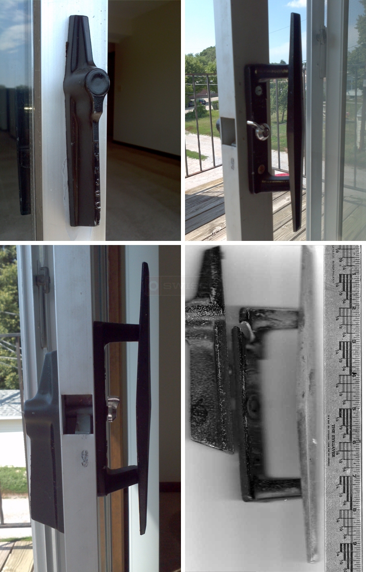 User submitted photos of patio door handles.